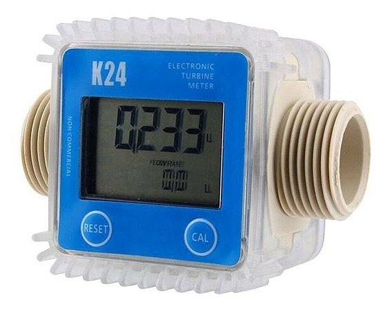Medidor Fluxo Digital Hidrômetro, Diesel, Arla 32, Químicos