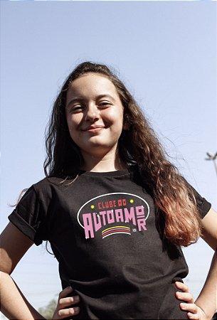 Camiseta Infantil Clube do Autoamor Preta