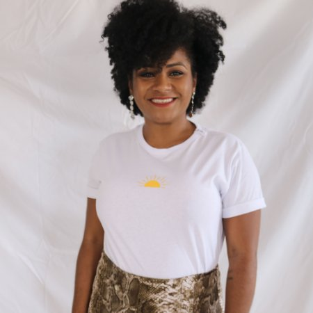 Camiseta Sol branca