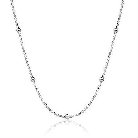 Corrente Bolinhas Diamantada - Prata 925
