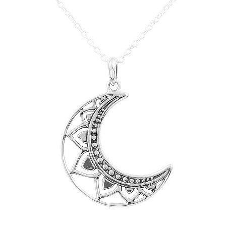 Colar Lua Vazada - Prata 925
