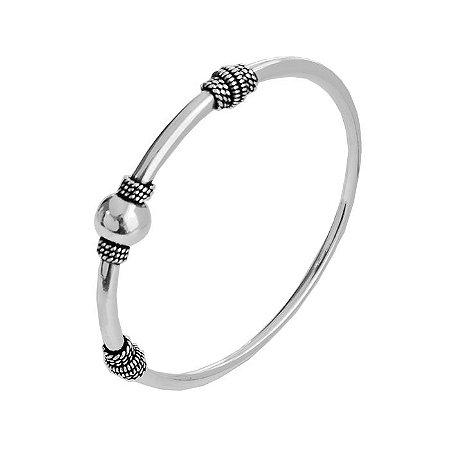 Bracelete Bola De Bali - Prata 925