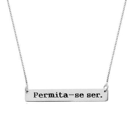 COLAR PERMITA-SE SER - PRATA 925