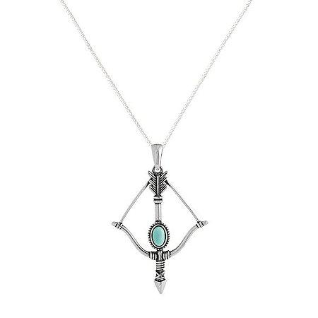 Colar Flecha Turquesa - Prata 925