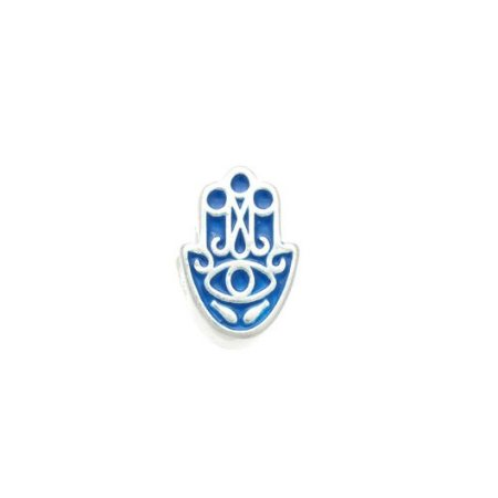 Berloque Hamsa Azul - Prata 925