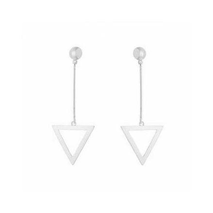 Brinco Geometrico Triangulo - Prata 925