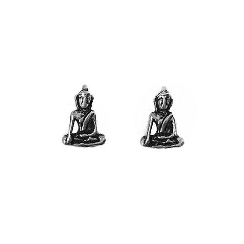 Brinco Buda Sentado - Prata 925