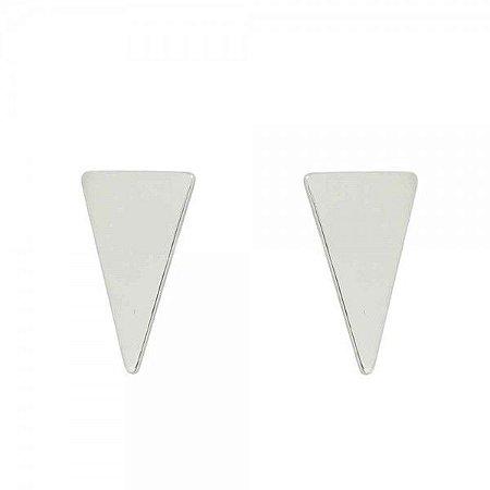 Brinco Triangulo Liso Mini - Prata 925