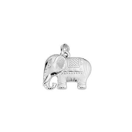 Pingente Grande De Elefante - Prata 925