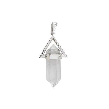 Pingente Boho Triangulo Cristal - Prata 925