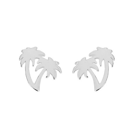 Brinco Dois Coqueiros - Prata 925