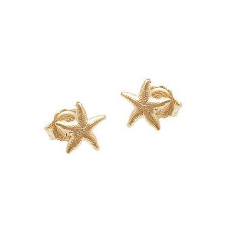 Brinco Estrela Do Mar - Folheado A Ouro