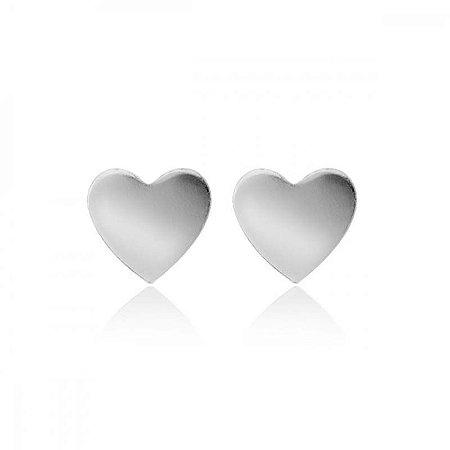 Brinco Pequeno De Coração - Prata 925