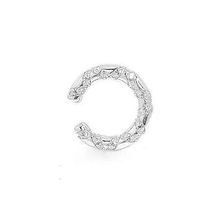Piercing Redondo Com Zircônias Cristal - Prata 925