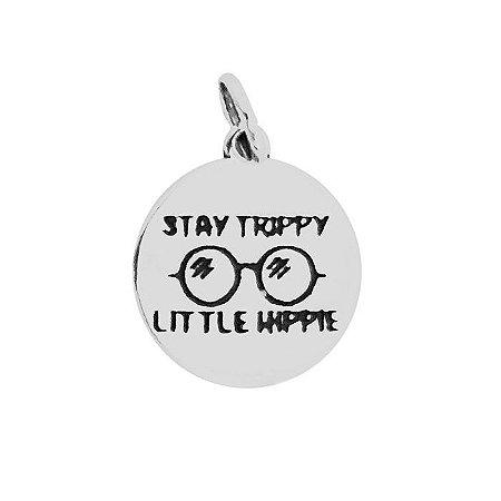 Pingente Stay Trippy Little Hippie - Prata 925