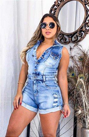 Macaquinho Jeans Botões II