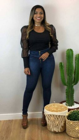 Calça Jeans Zíper Carmen