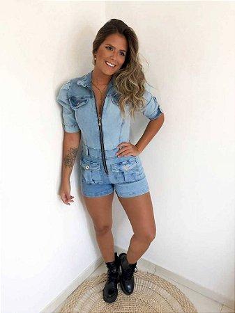 Macaquinho Jeans Princesa