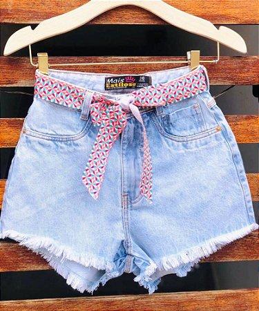 Short Jeans Cinto Estrelinhas