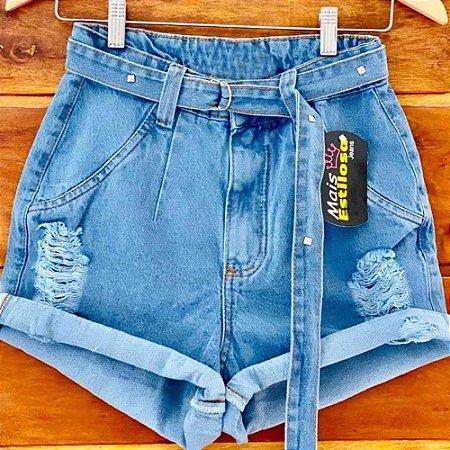 Short Jeans Cinto Barrinha