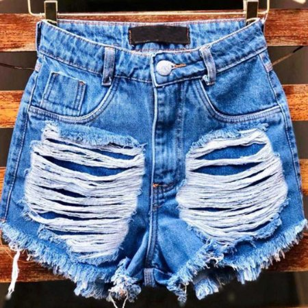 Short Jeans Destroyed Barra Desfiada