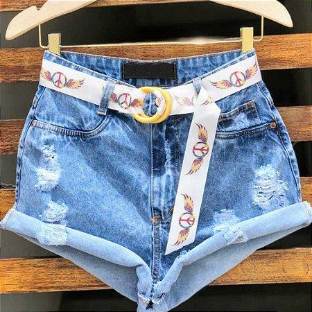 Short Jeans Cintinho Peace