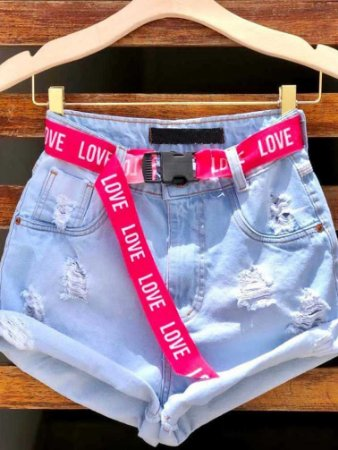 Short Jeans Pink Love