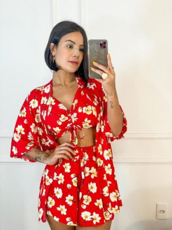 Conjunto Maria Flor (Kimono + Short)