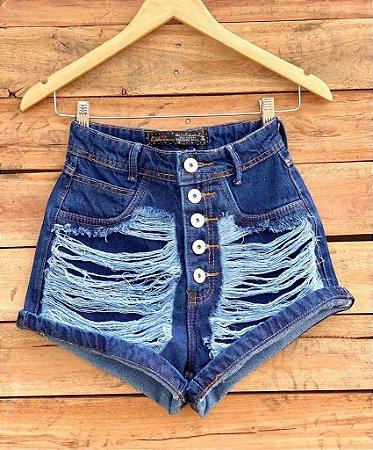 Short Jeans Destroyed Botões II