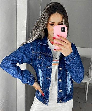 Jaqueta Jeans Rasgos