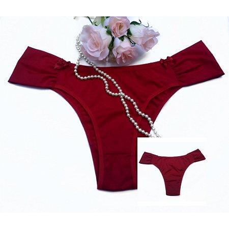 Calcinha Tanga Plus Size - Vermelha