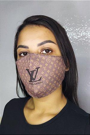 Máscara de Proteção Dupla Sublimada - Louis Vuitton