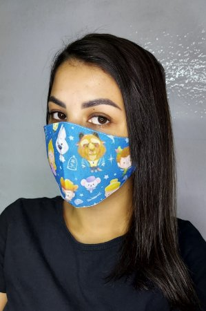 Máscara de Proteção Dupla Sublimada - Personagens da Disney