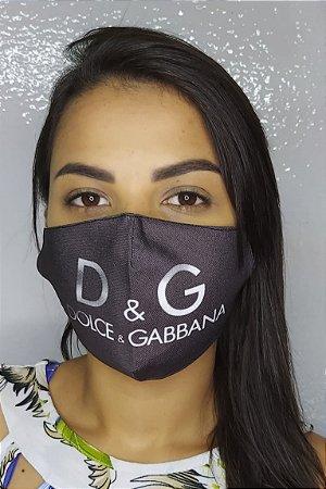 Máscara de Proteção Dupla Sublimada - Dolce e Gabbana