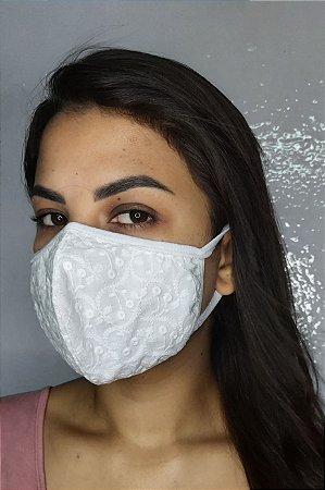 Máscara de Luxo Feminina Dupla - LINHA MAGNÍFICA - Laise Branco
