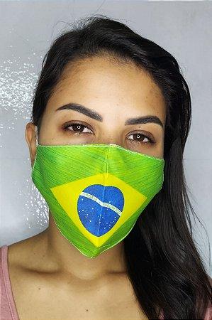Máscara de Proteção Dupla Sublimada - Brasil
