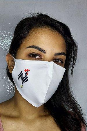 Máscara de Proteção Dupla Sublimada - Galo Atletico