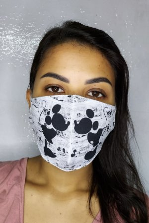 Máscara de Proteção Dupla Sublimada - Casal  Mickey e Minnie