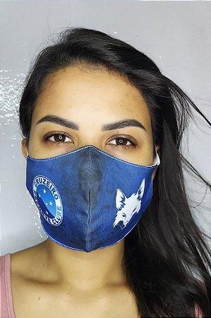 Máscara de Proteção Dupla Sublimada - Cruzeiro
