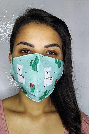 Máscara de Proteção Dupla Sublimada - Lhama