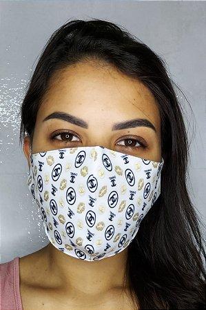 Máscara de Proteção Dupla Sublimada - Chanel
