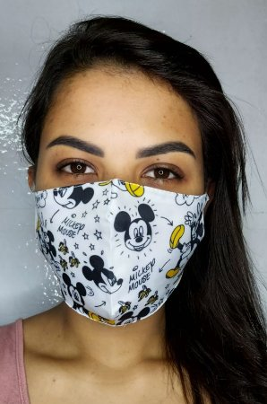 Máscara de Proteção Dupla Sublimada - Mickep Mouse