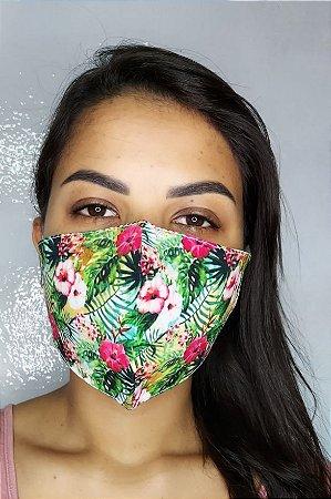 Máscara de Proteção Dupla Sublimada - Flores