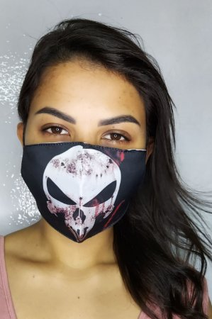 Máscara de Proteção Dupla Sublimada - Caveira