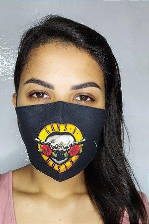 Máscara de Proteção Dupla Sublimada - Guns N' Roses