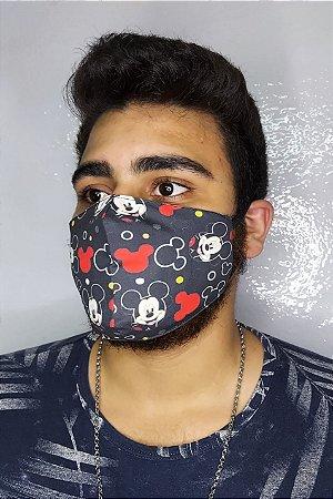 Máscara de Proteção Dupla Sublimada - Mickey