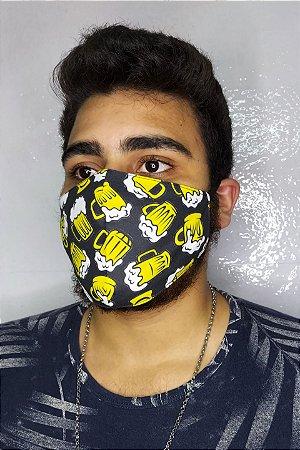 Máscara de Proteção Dupla Sublimada - Cerveja