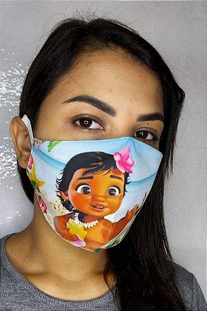 Máscara de Proteção Dupla Sublimada - Moana