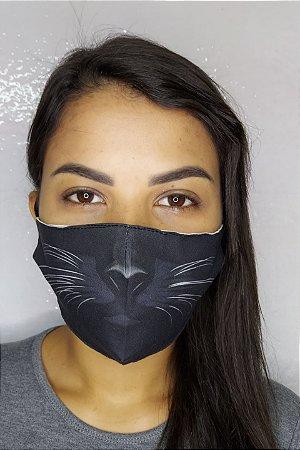 Máscara de Proteção Dupla Sublimada - Gatinho