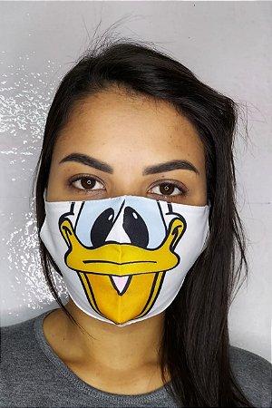 Máscara de Proteção Dupla Sublimada - Pato Donald